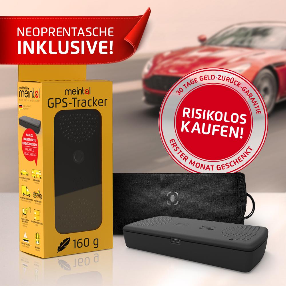 meintal - GPS-Tracker für Fahrzeuge + Etui
