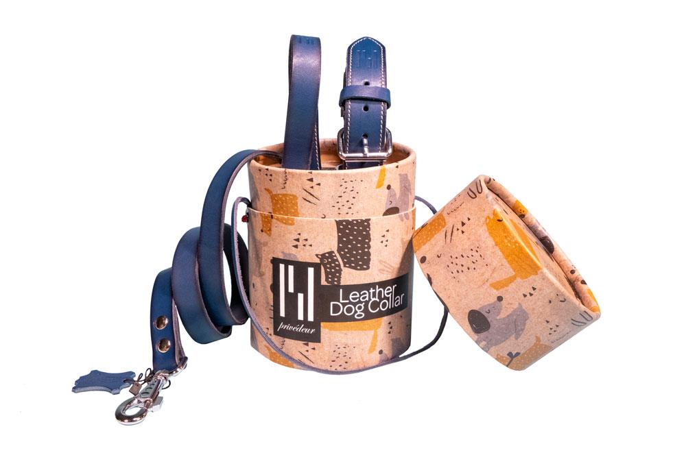 2er-Set Hundehalsband und Hundeleine Classic