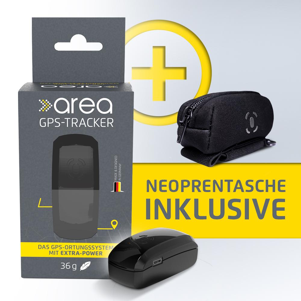 area - GPS-Tracker für Personen + Neoprentasche